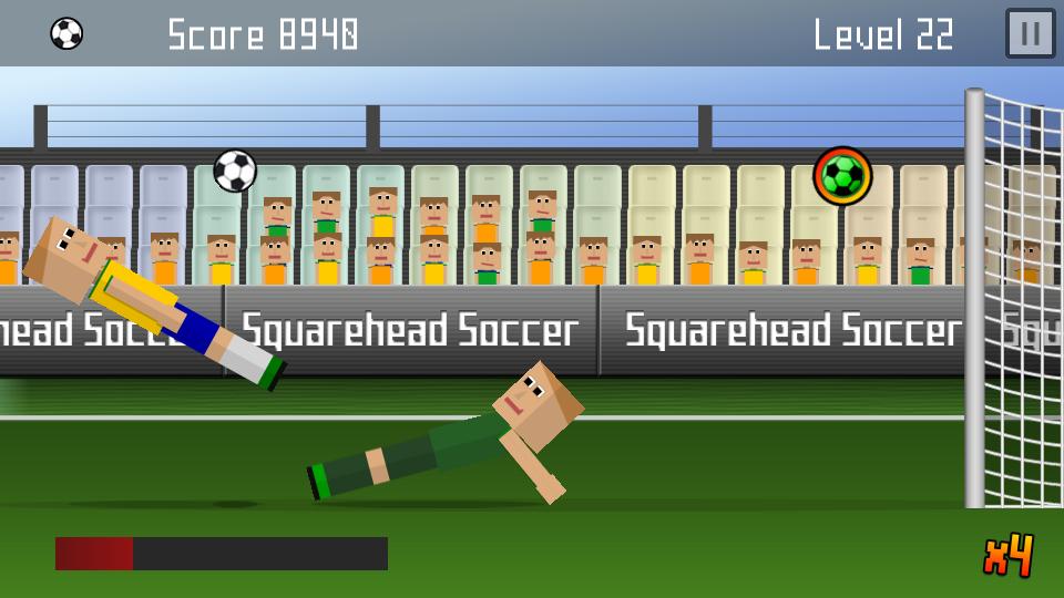 Squarehead Soccer Brasilien Action