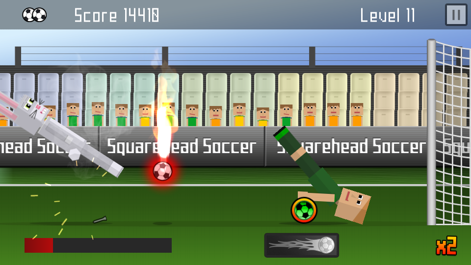 Squarehead Soccer Rabbit Action