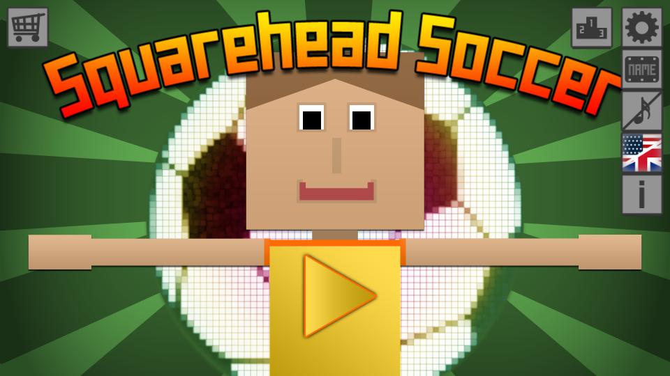 Squarehead Soccer Titelbildschirm